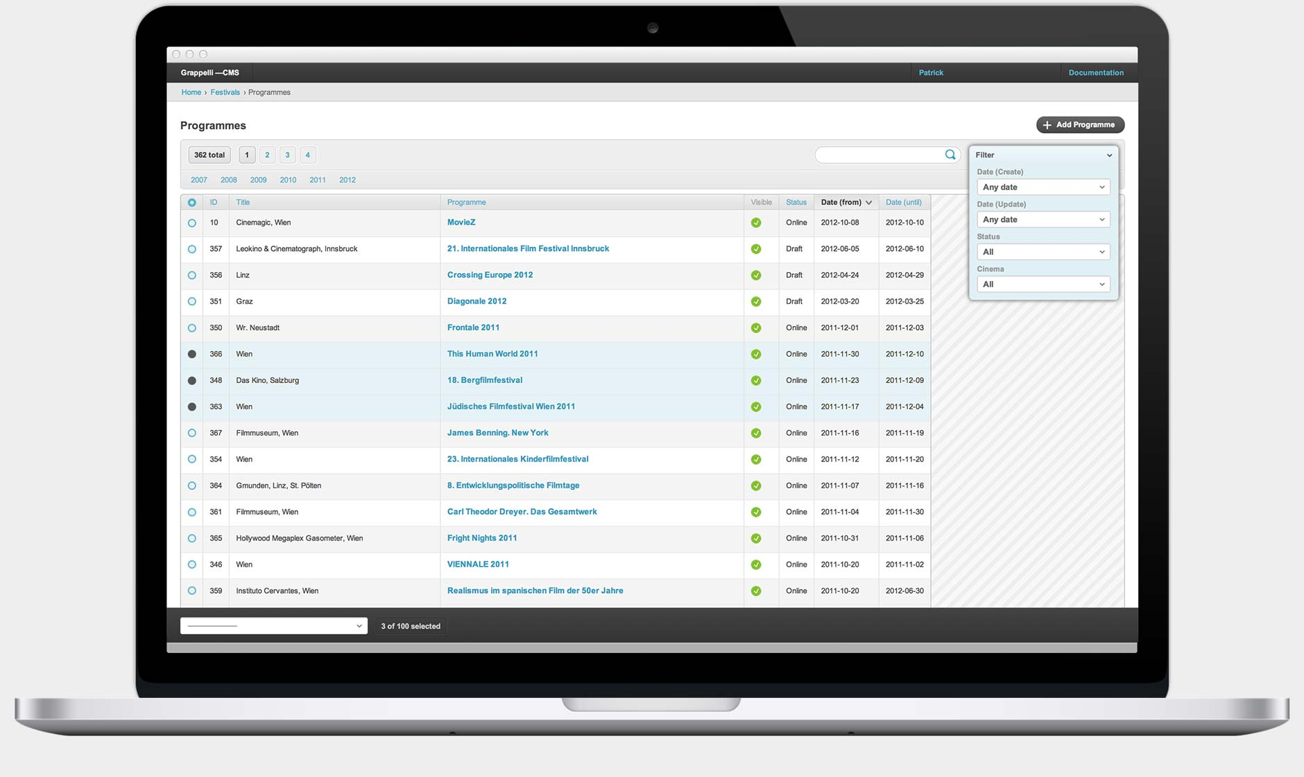 GRAPPELLI ADMIN INTERFACE